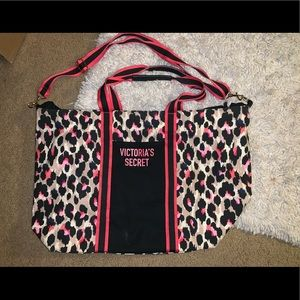 Victoria's Secret Cheetah Print Large Weekender